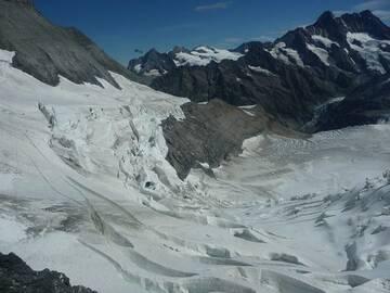 Gletscherwelt am Jungfraujoch
