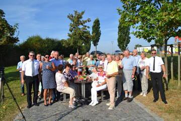 Gruppenfoto auf der Anreise nach München