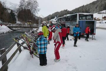 Ein Ski -Tag beginnt
