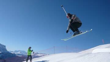 auf Skiern...